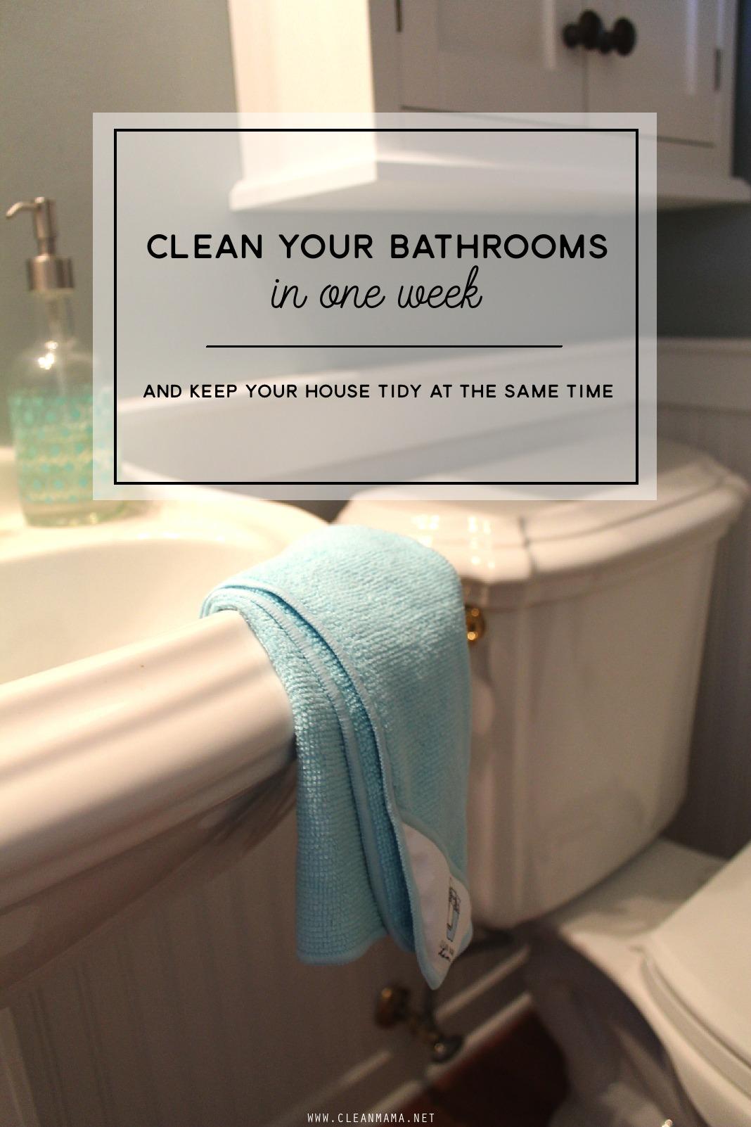 come clean challenge - week 3 - bathrooms