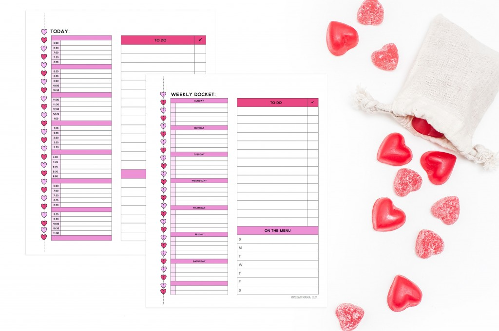 Daily and Weekly Planning pages - February 2016 Homekeeping Society - Clean Mama