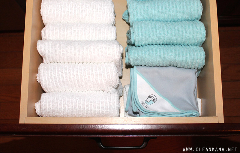 Organized Kitchen Towels via Clean Mama copy