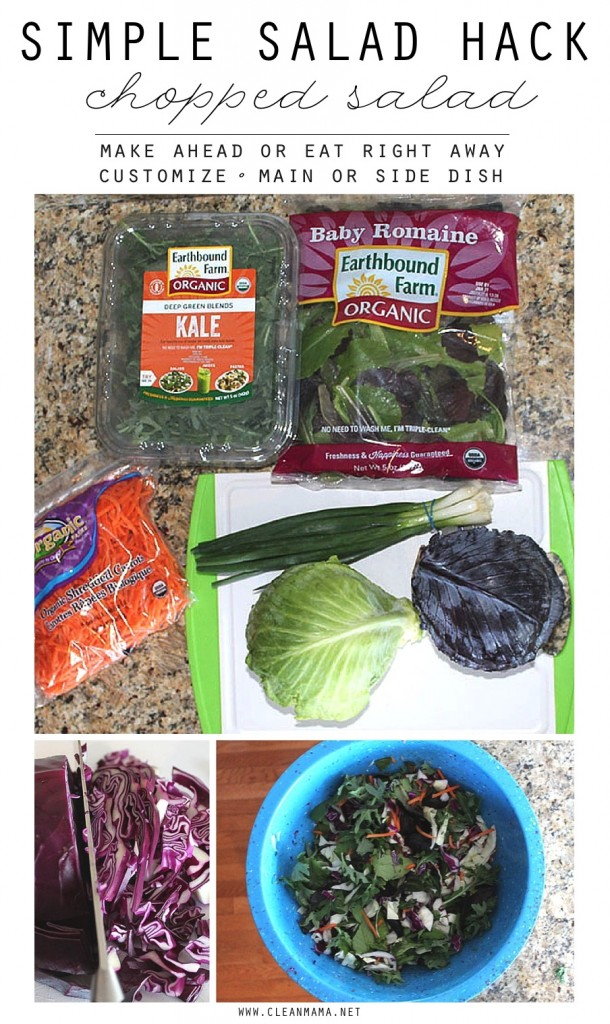 Simple Salad Hack - Chopped Salad - Clean Mama