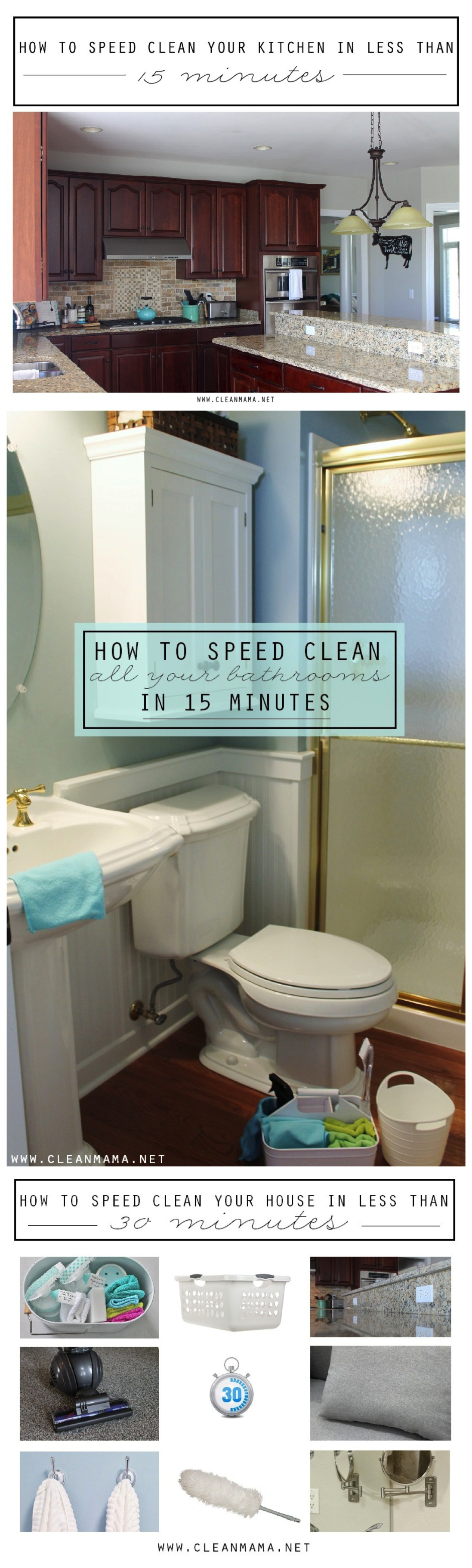 Speed Cleaning 101 via Clean Mama