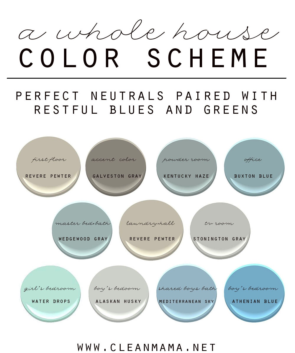 How to choose a color scheme for your home clean mama for Choosing paint colors