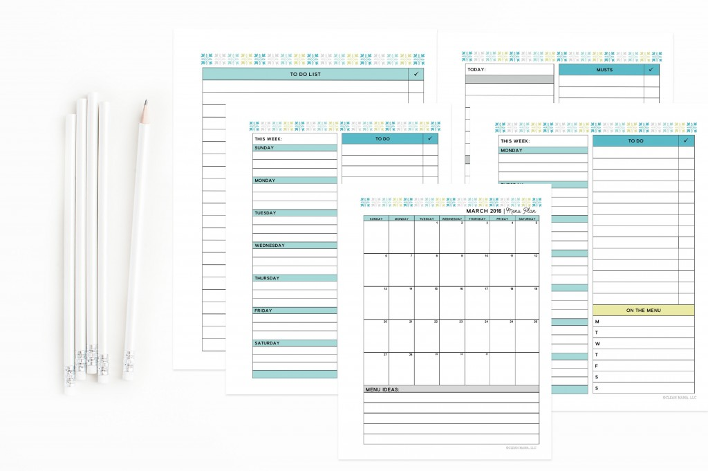 Calendars and Menu Planning - March Homekeeping Society - Clean Mama