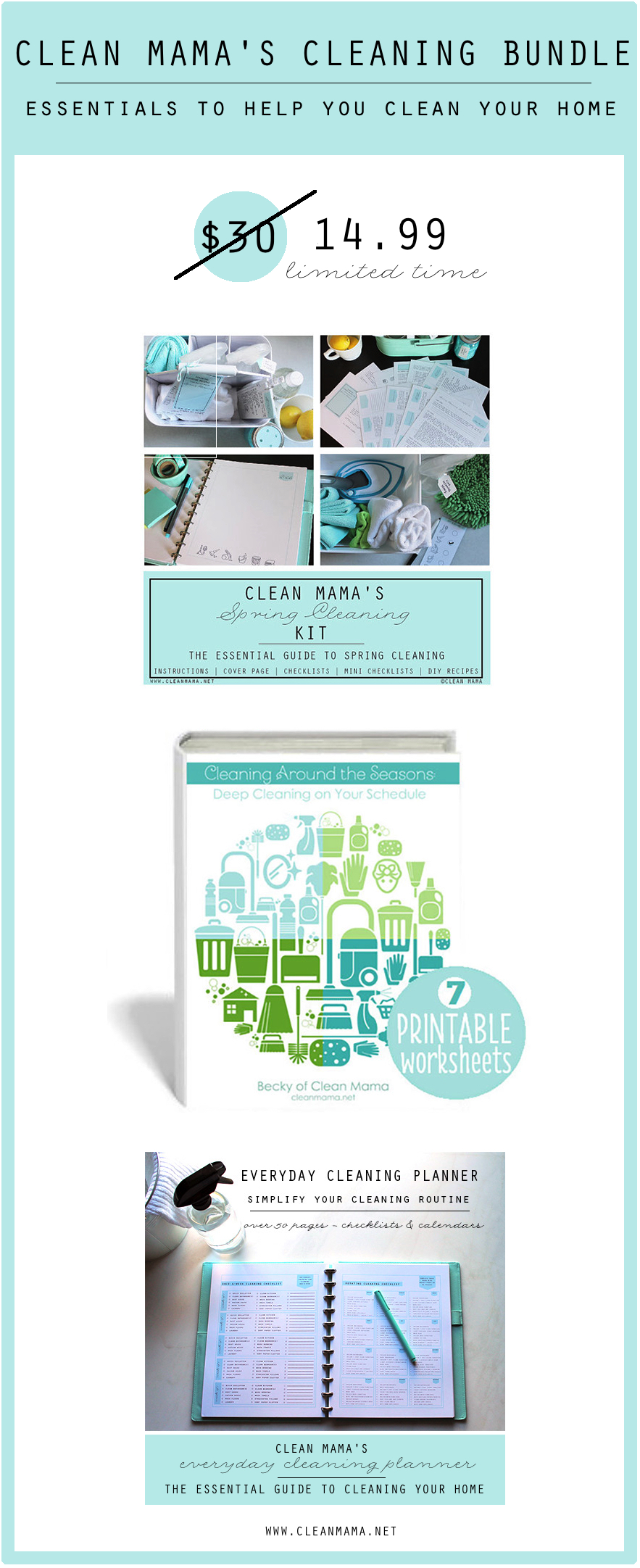 Clean Mama's Cleaning Bundle - grab yours now! Clean Mama