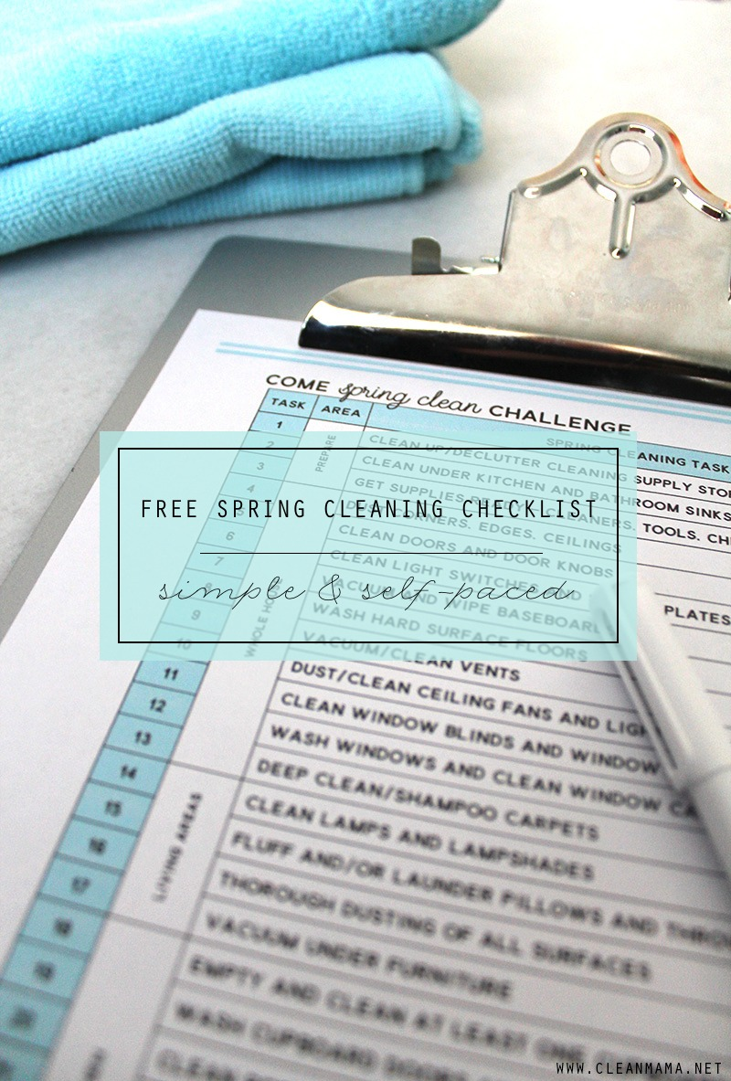 Come Spring Clean Challenge - main Clean Mama