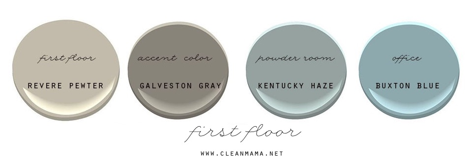 First Floor Paint Colors - Clean Mama