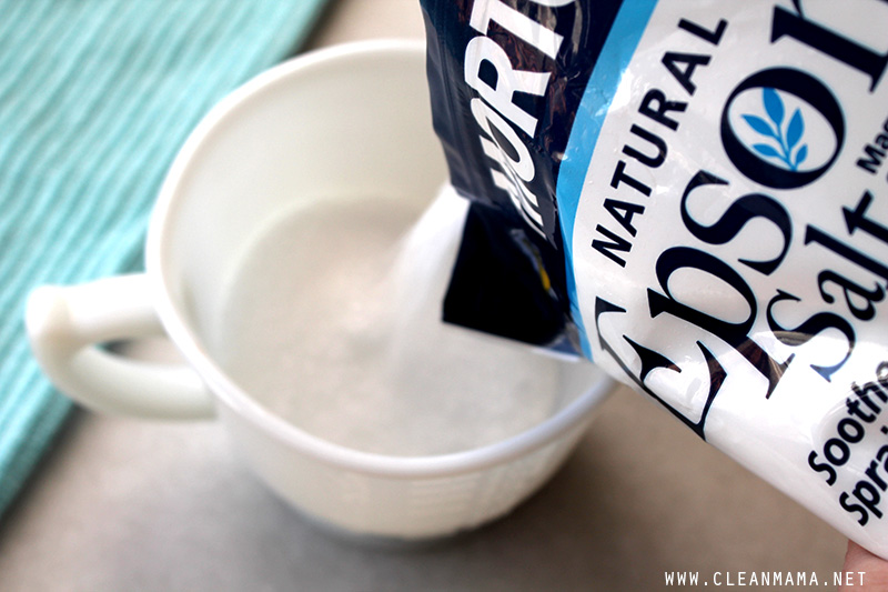 Put Epsom Salt in Container - Clean Mama