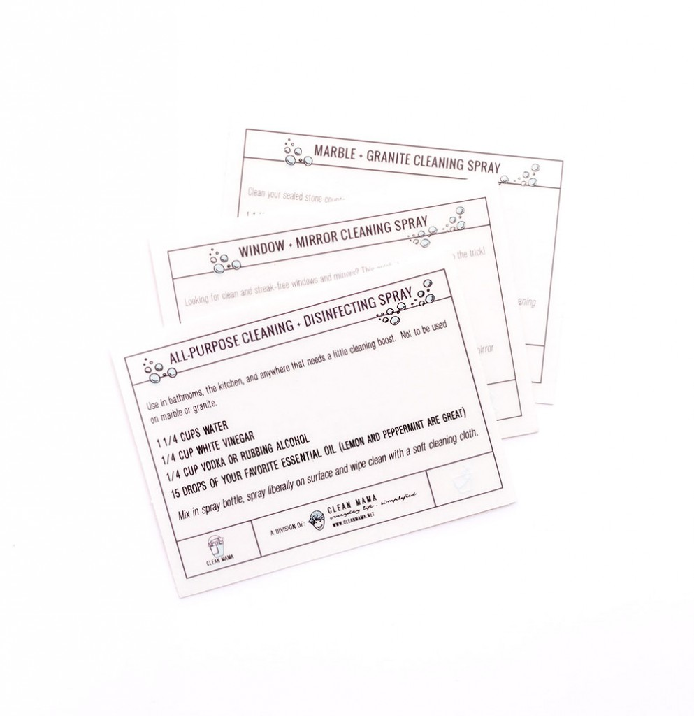 3 pack Spray Cleaning Recipe Labels 1000 - Clean Mama Home