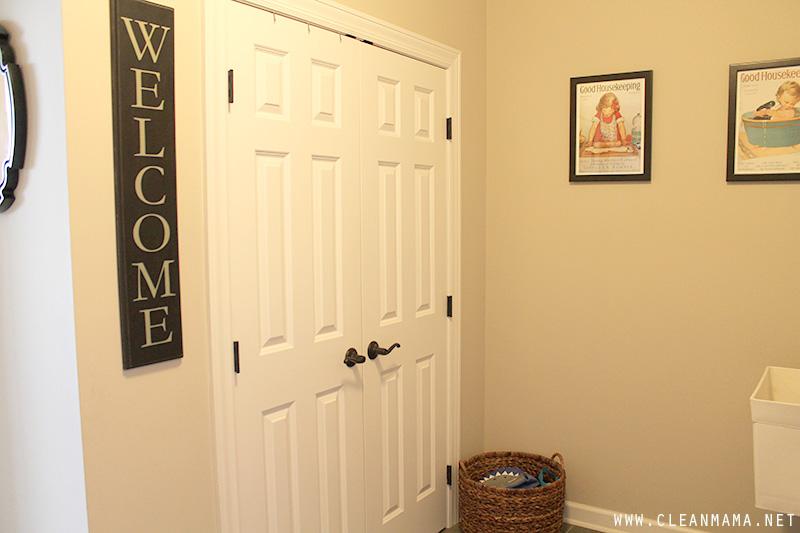 Cleaning Closet Door - Clean Mama