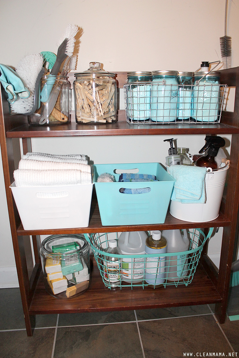 Cleaning Closet Shelf - Clean Mama