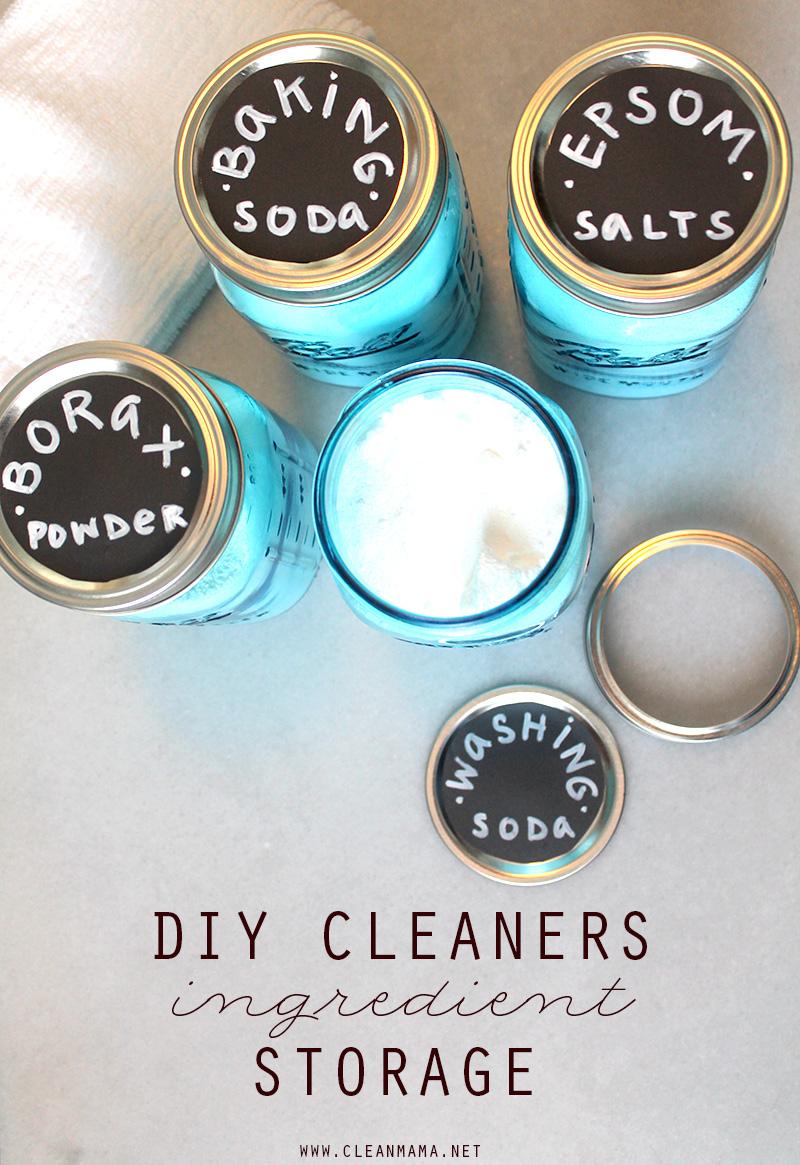 DIY Cleaners Ingredient Storage - Clean Mama