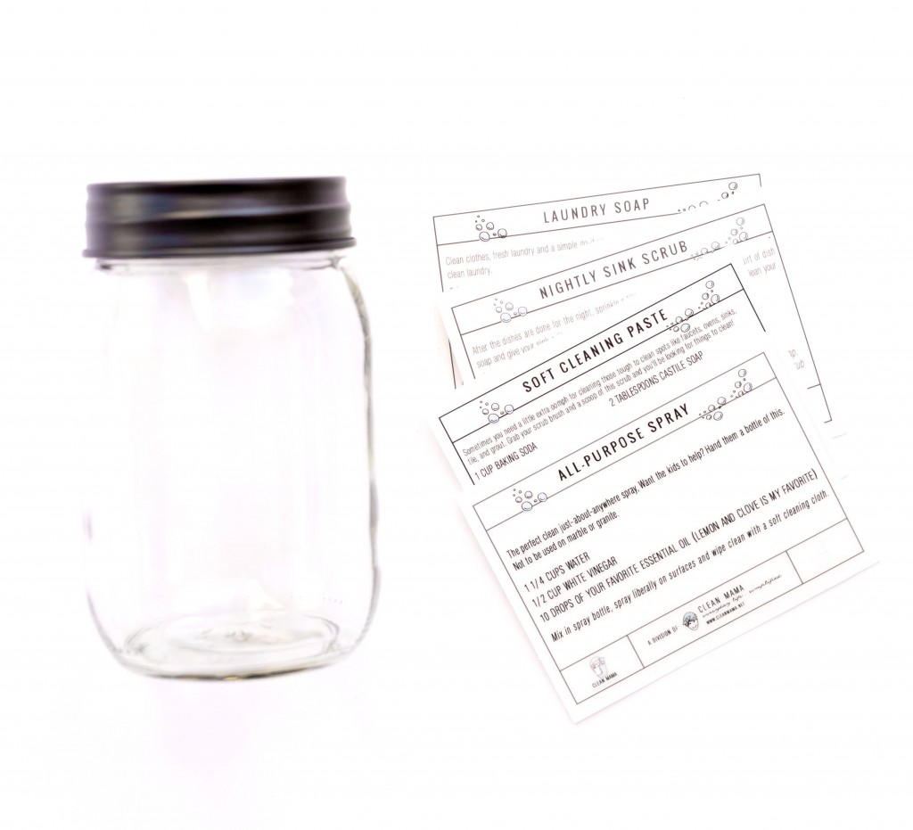 Mason Jar + Labels - Clean Mama