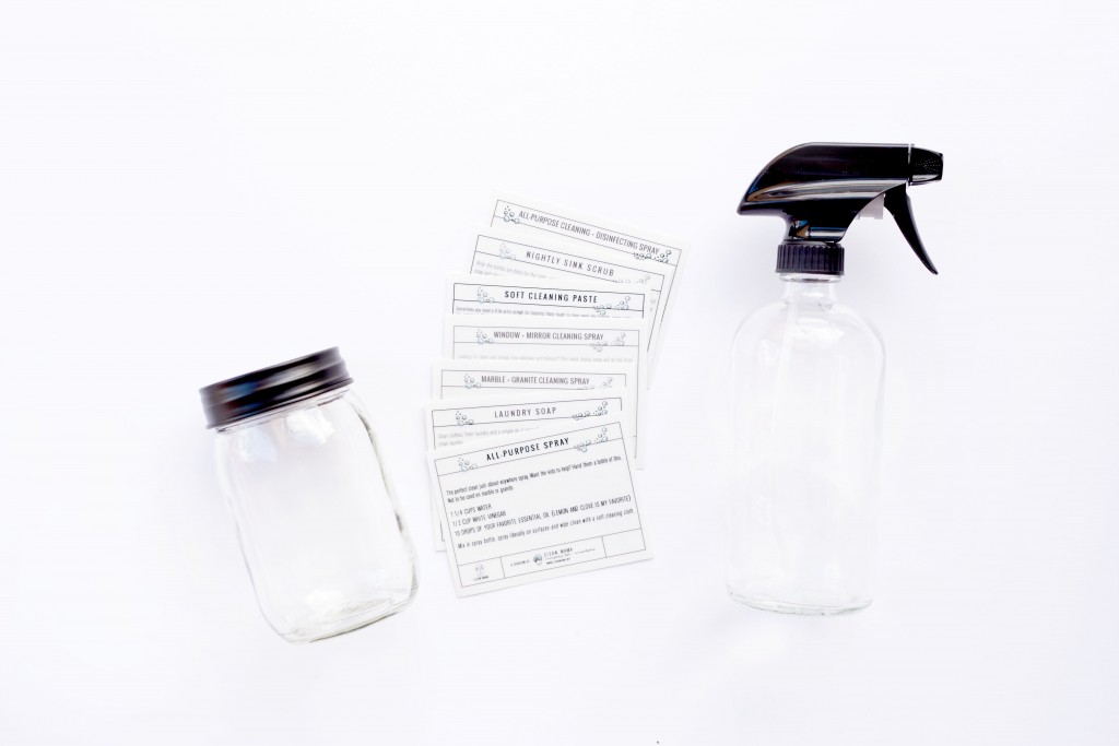Scrub and Spray with Labels - Clean Mama Home