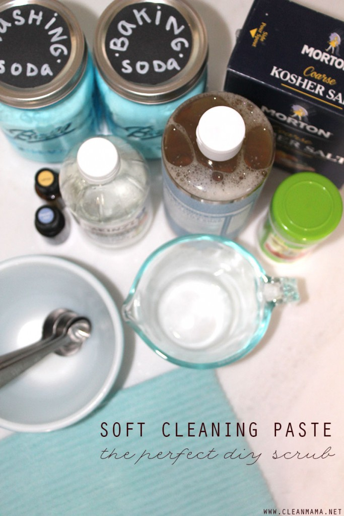 Soft Cleaning Paste - the perfect scrub - Clean Mama