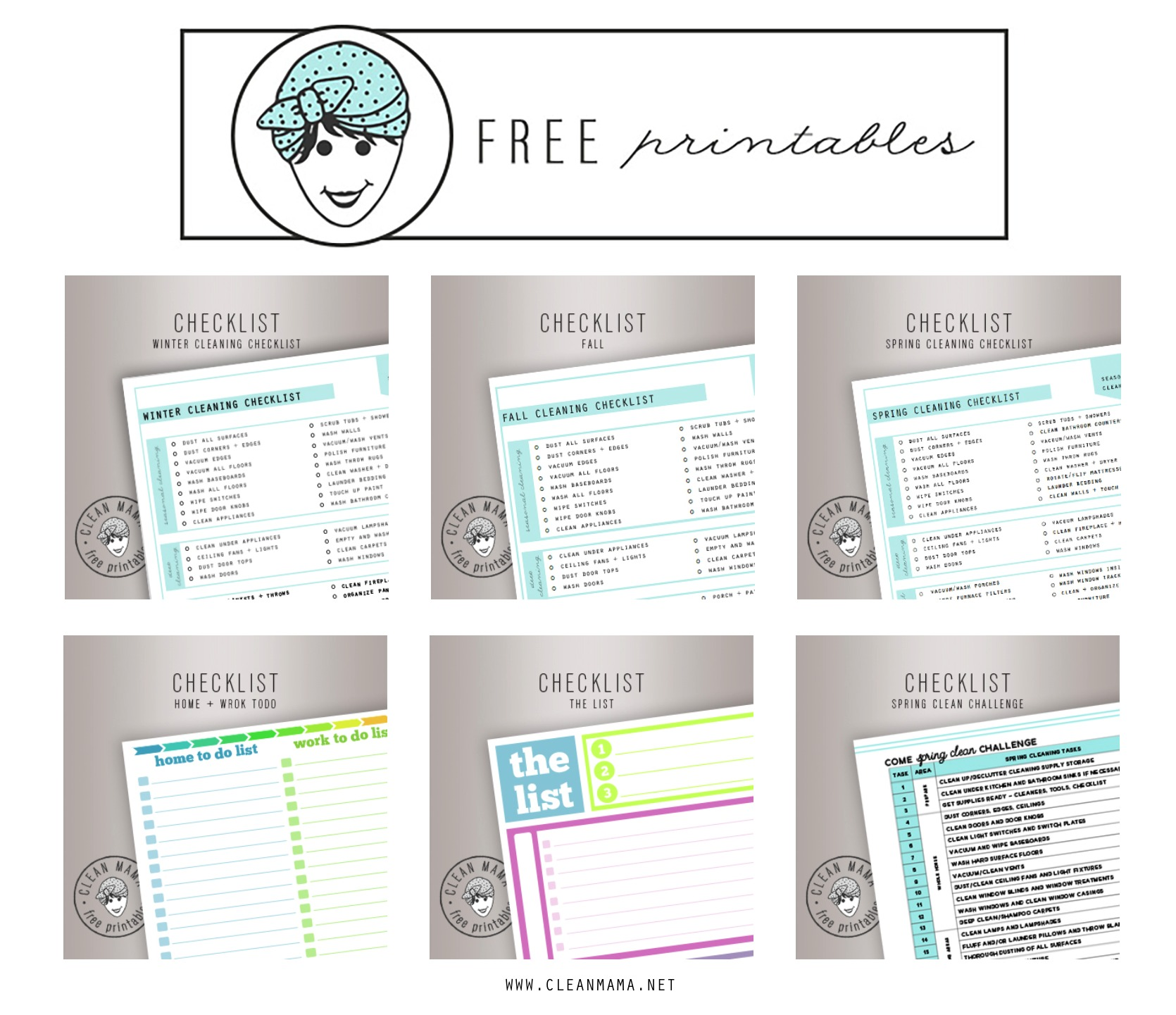 Clean Mama Free Printables