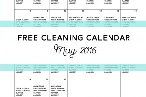 Come Clean - Free Cleaning Calendar for May 2016 - Clean Mama