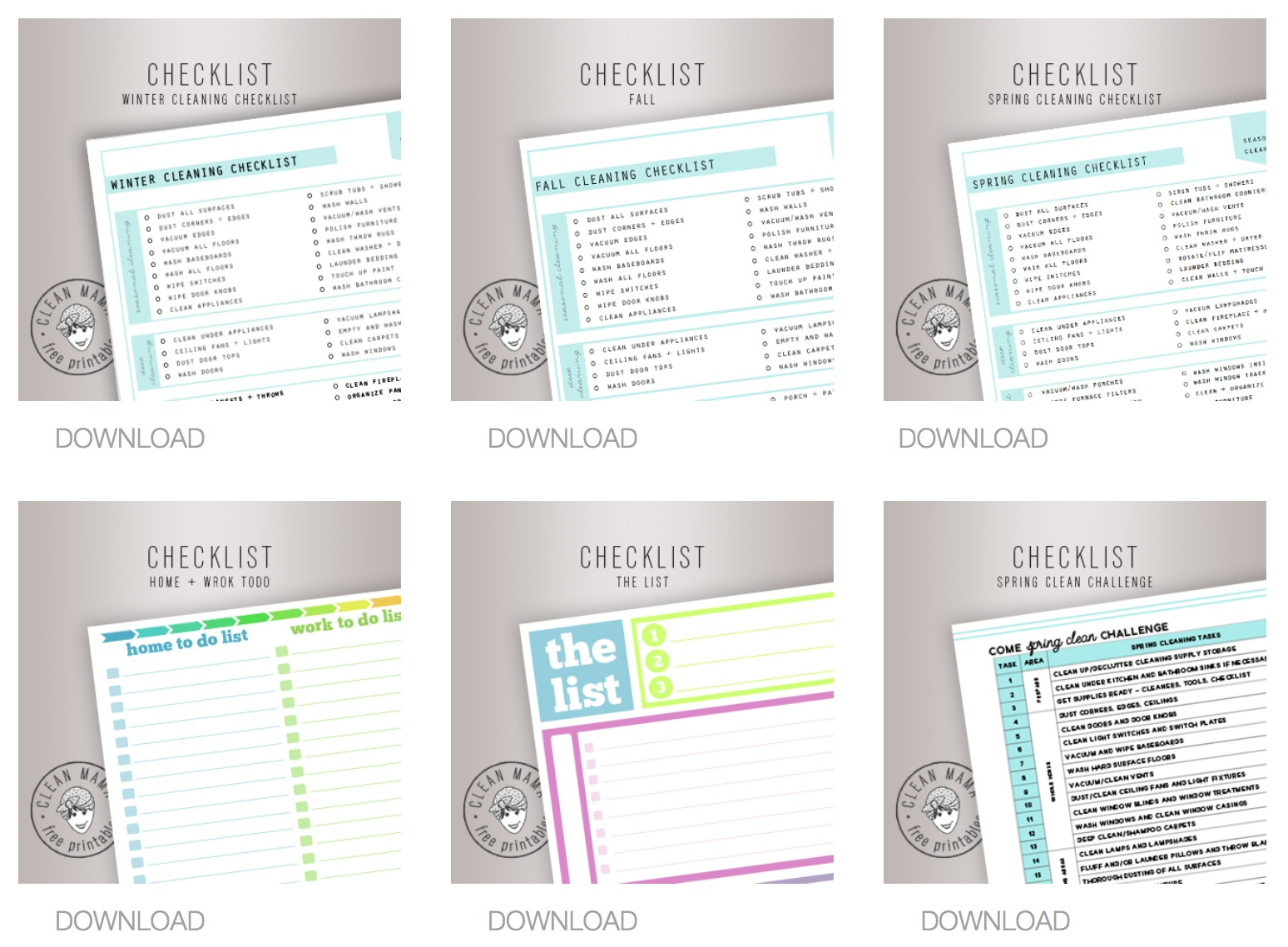 Free Printables Page - Clean Mama
