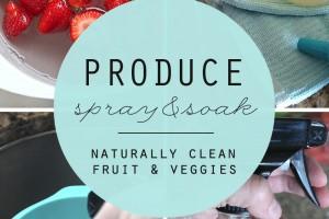 Produce Spray + Soak - Naturally Clean Fruit and Veggies - Clean Mama