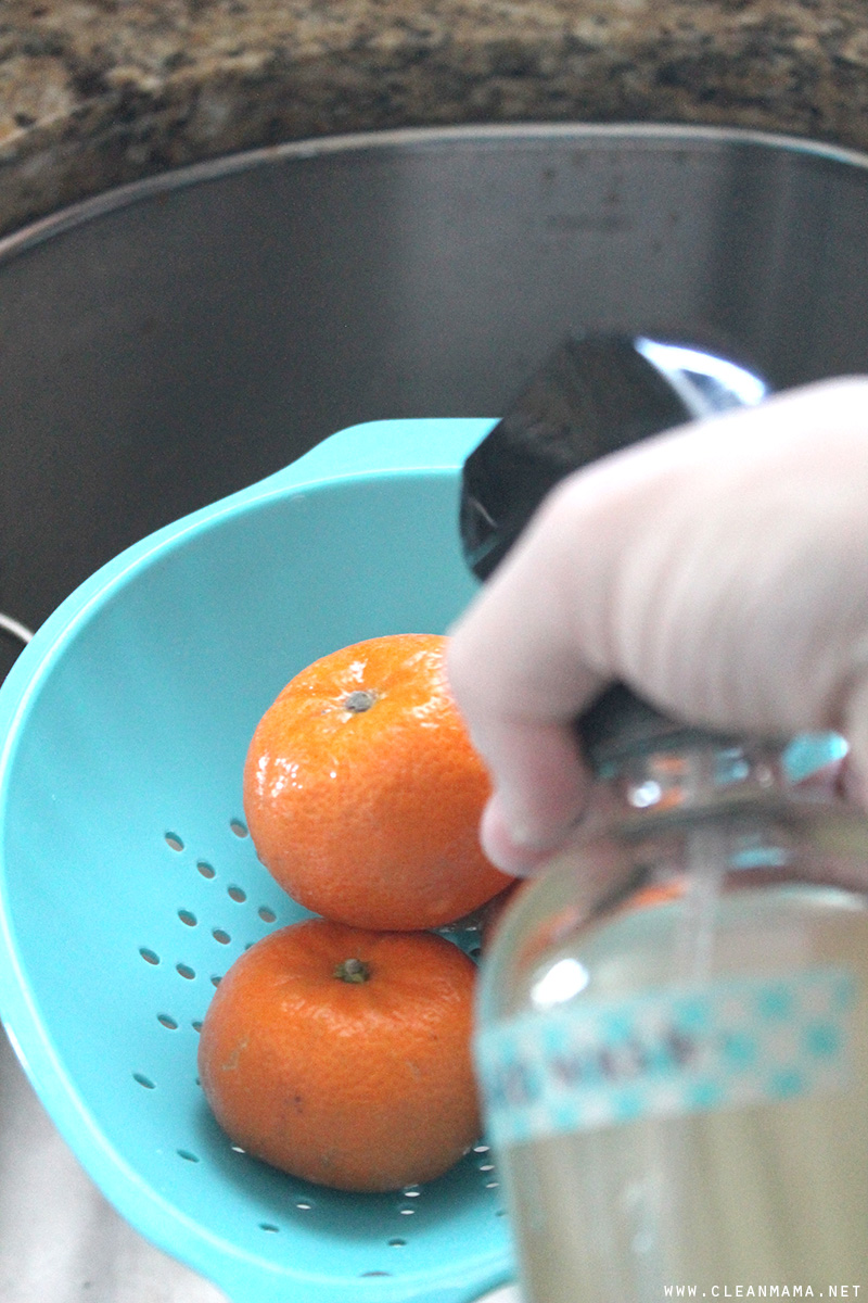 Spray Fruit - DIY Fruit and Veggie Spray - Clean Mama