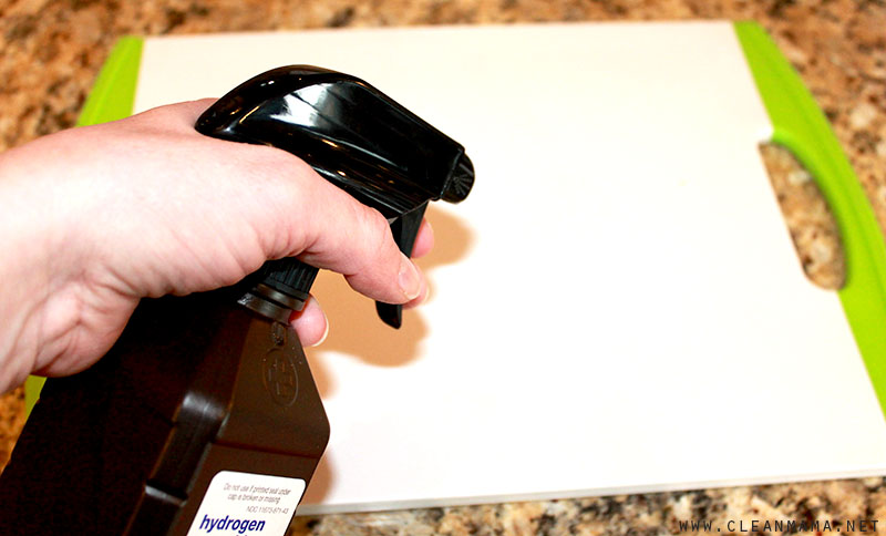 Spray on Cutting Boards - Clean Mama