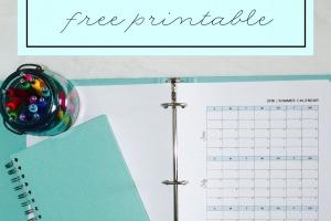 Summer 2016 Free Printable Calendar - Clean Mama copy copy
