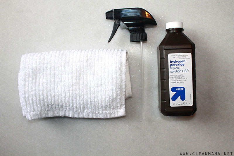 Use a Sprayer and the Hydrogen Peroxide Bottle - Clean Mama