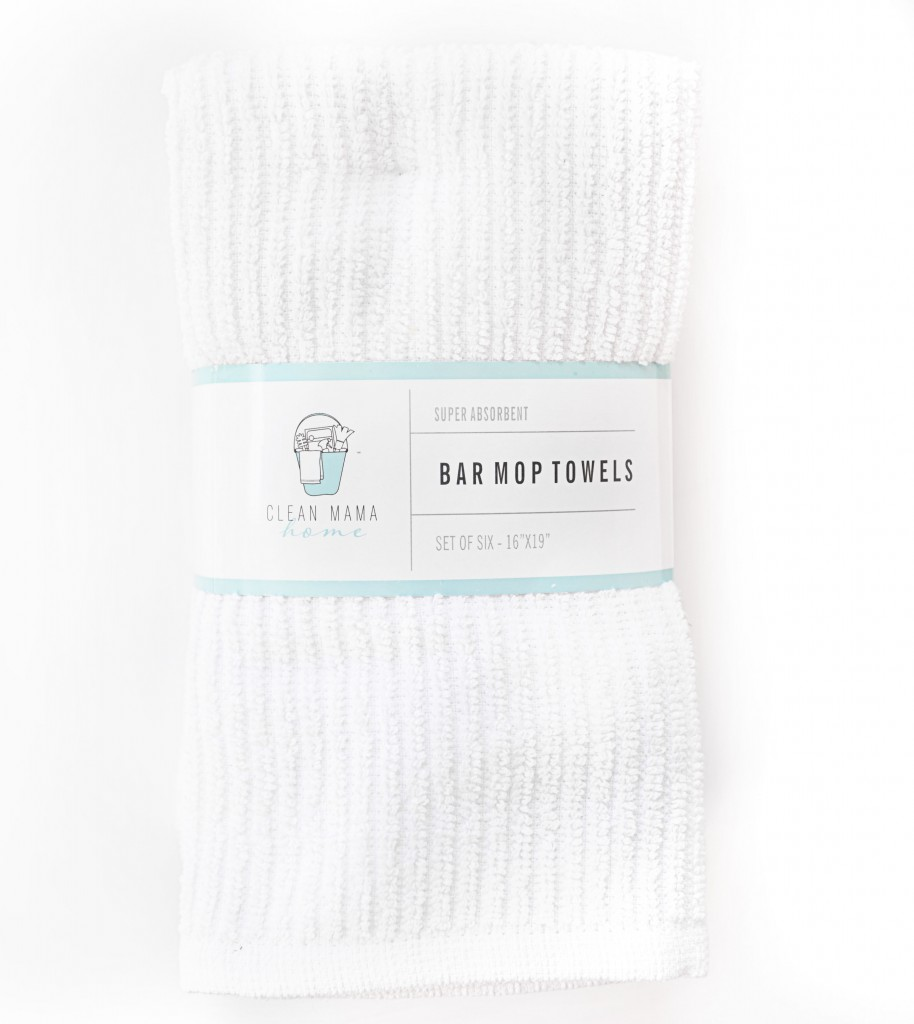 white bar mop towels - cmh