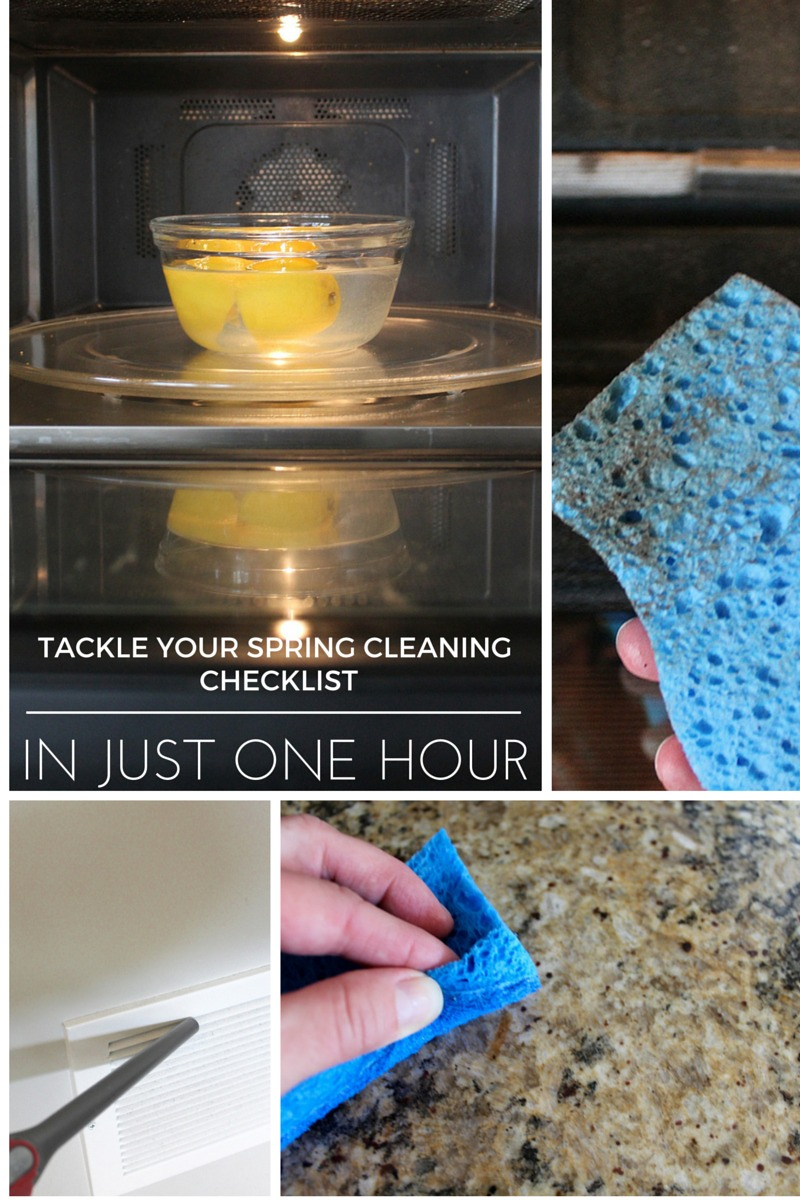 Tackle Your Spring Cleaning Checklist in Just 1 Hour + Pinterest Party