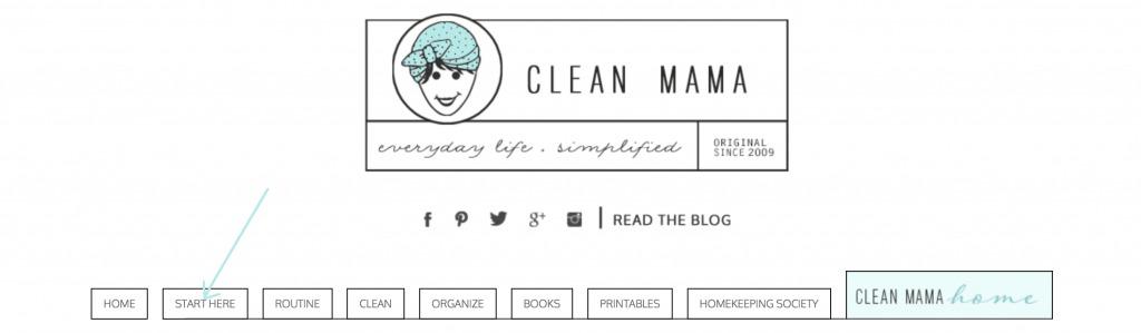 Start Here Tab - Clean Mama