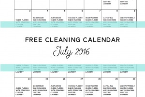 Free Cleaning Calendar - July 2016 - Clean Mama