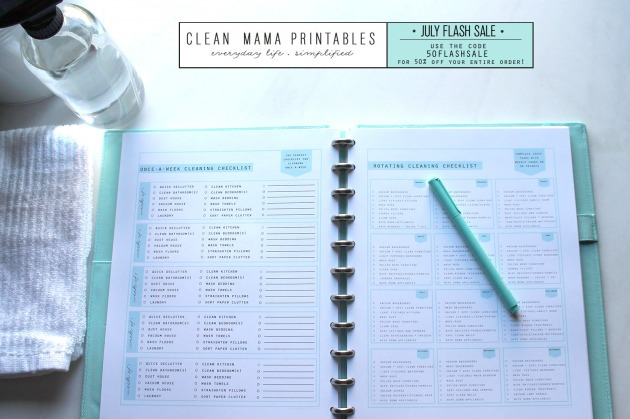Clean Mama Printables 50% OFF FLASH SALE