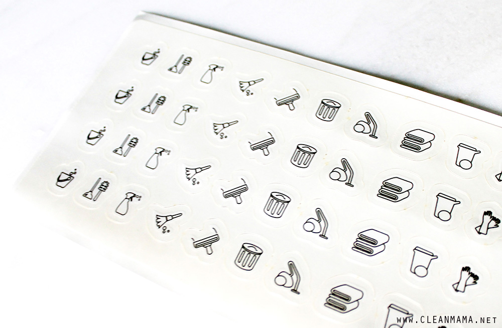 Cleaning Routine Stickers - Clean Mama