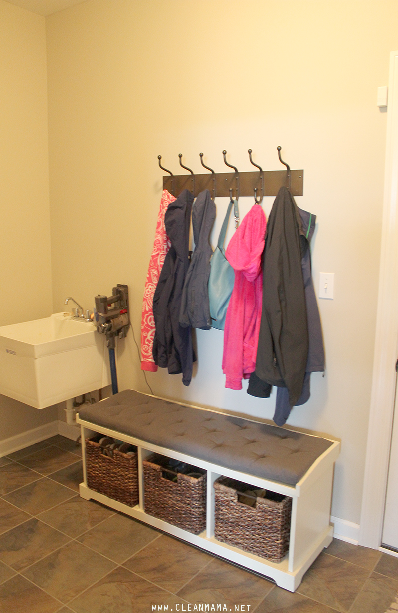 Mud Room Bench + Hooks - Clean Mama
