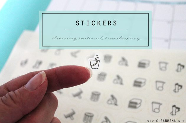Clean Mama Home Stickers | Cleaning Routine + Homekeeping