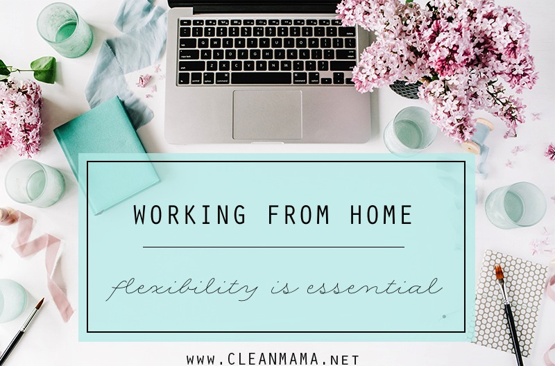 Working From Home - Flexibility is Essential - Clean Mama