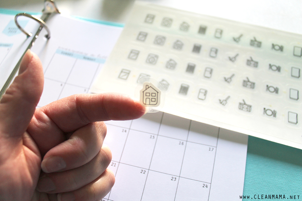homekeeping stickers - close-up - Clean Mama