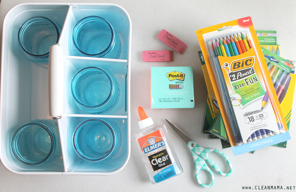 Homework Caddy - Supplies - Clean Mama