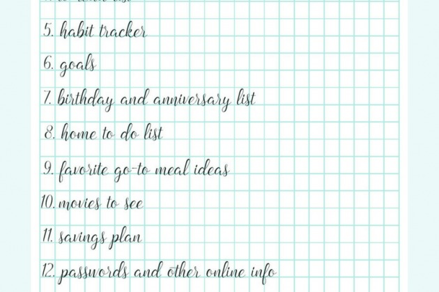 Lists to Make in Your Planner + Free Notes Page