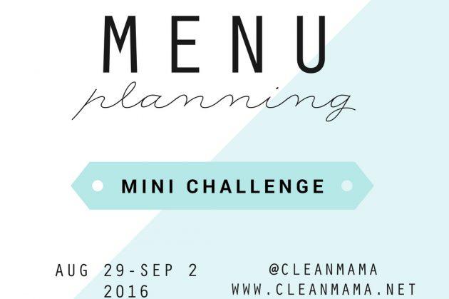Menu Planning Mini Challenge