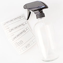 small spray bottle with labels  - cmh