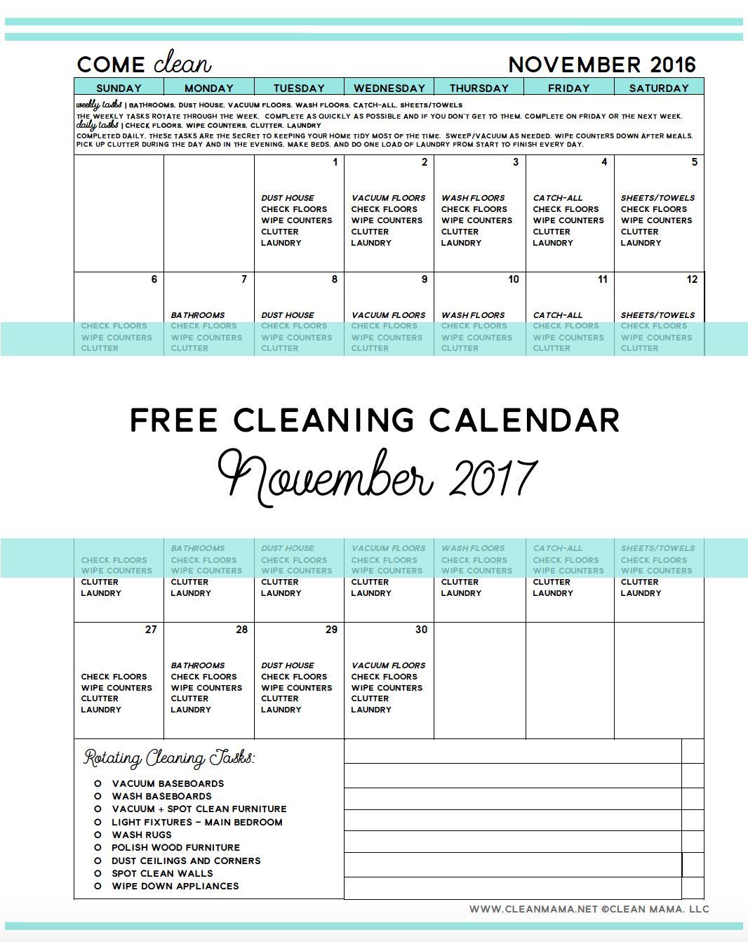 free-cleaning-calendar-november-2016-come-clean-clean-mama