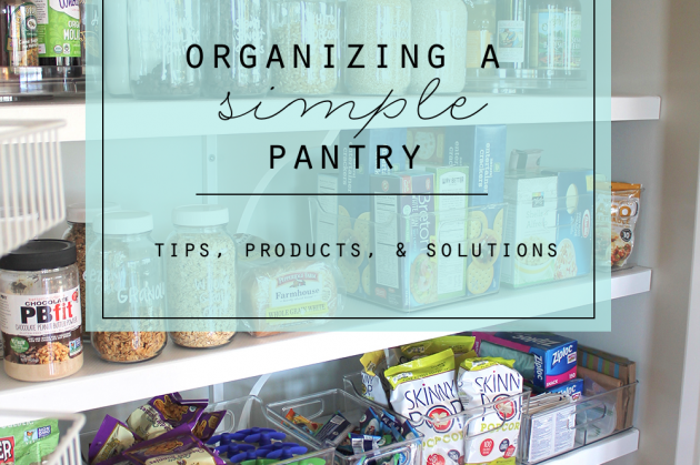 Organizing A Simple Pantry