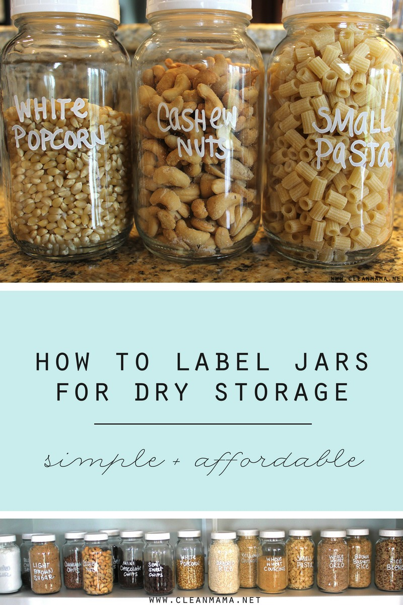 how to label jars for pantry storage clean mama