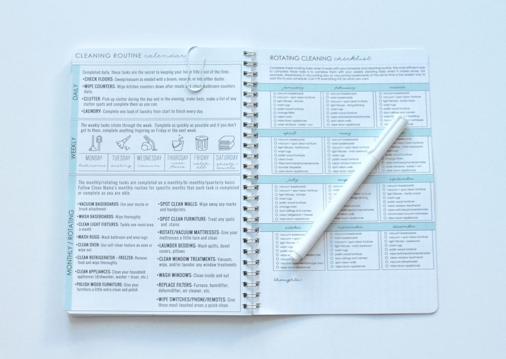 Cleaning Detail- Clean Mama Planner