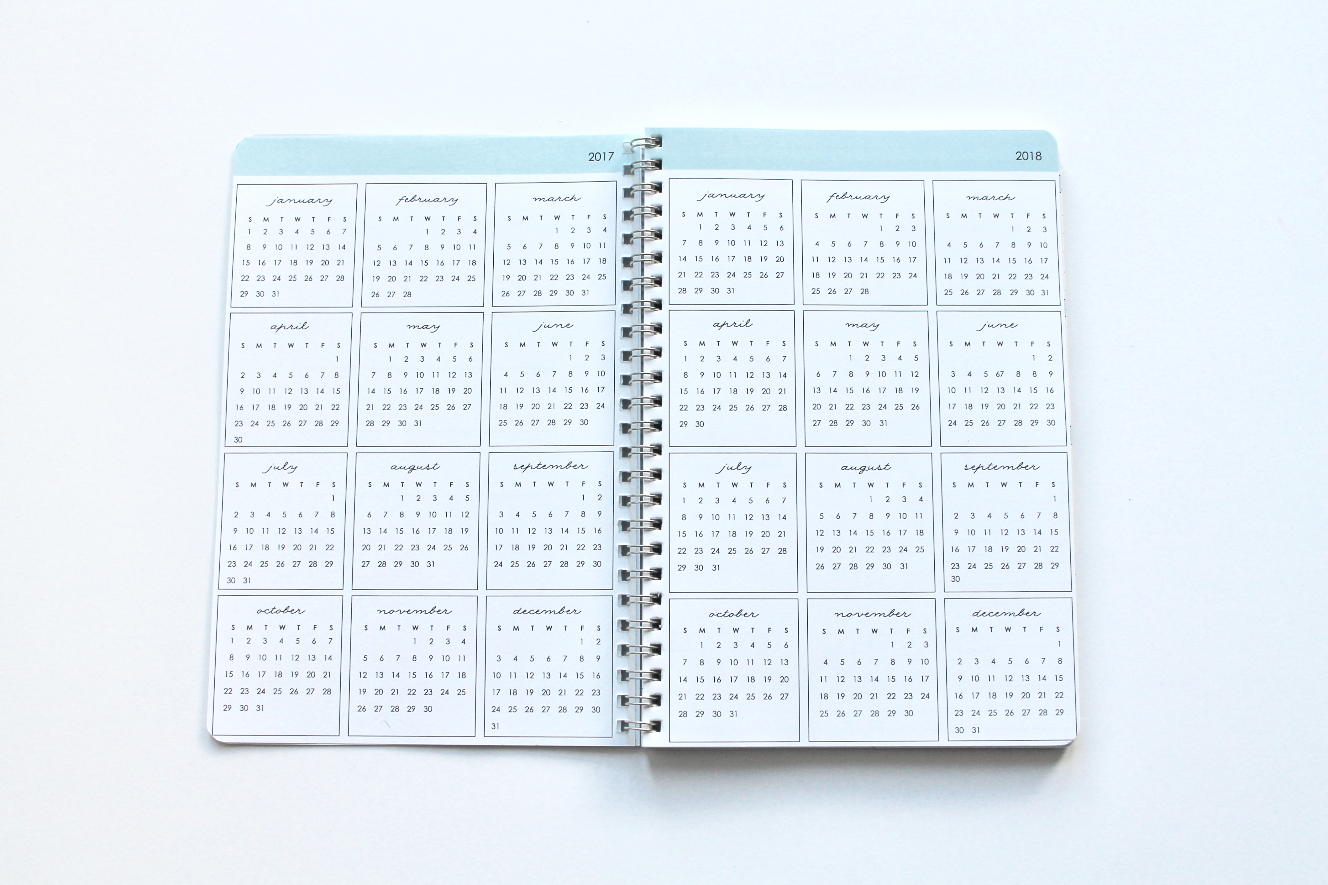 clean mama planner at a glance calendars