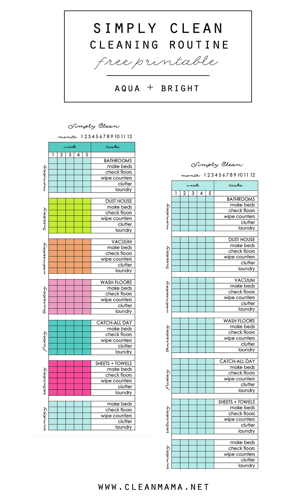 simply clean cleaning routine at a glance printable clean mama a fresh new year upon us i m excited to be bringing you some resources and inspiration to help you make this the year that you meet your homekeeping