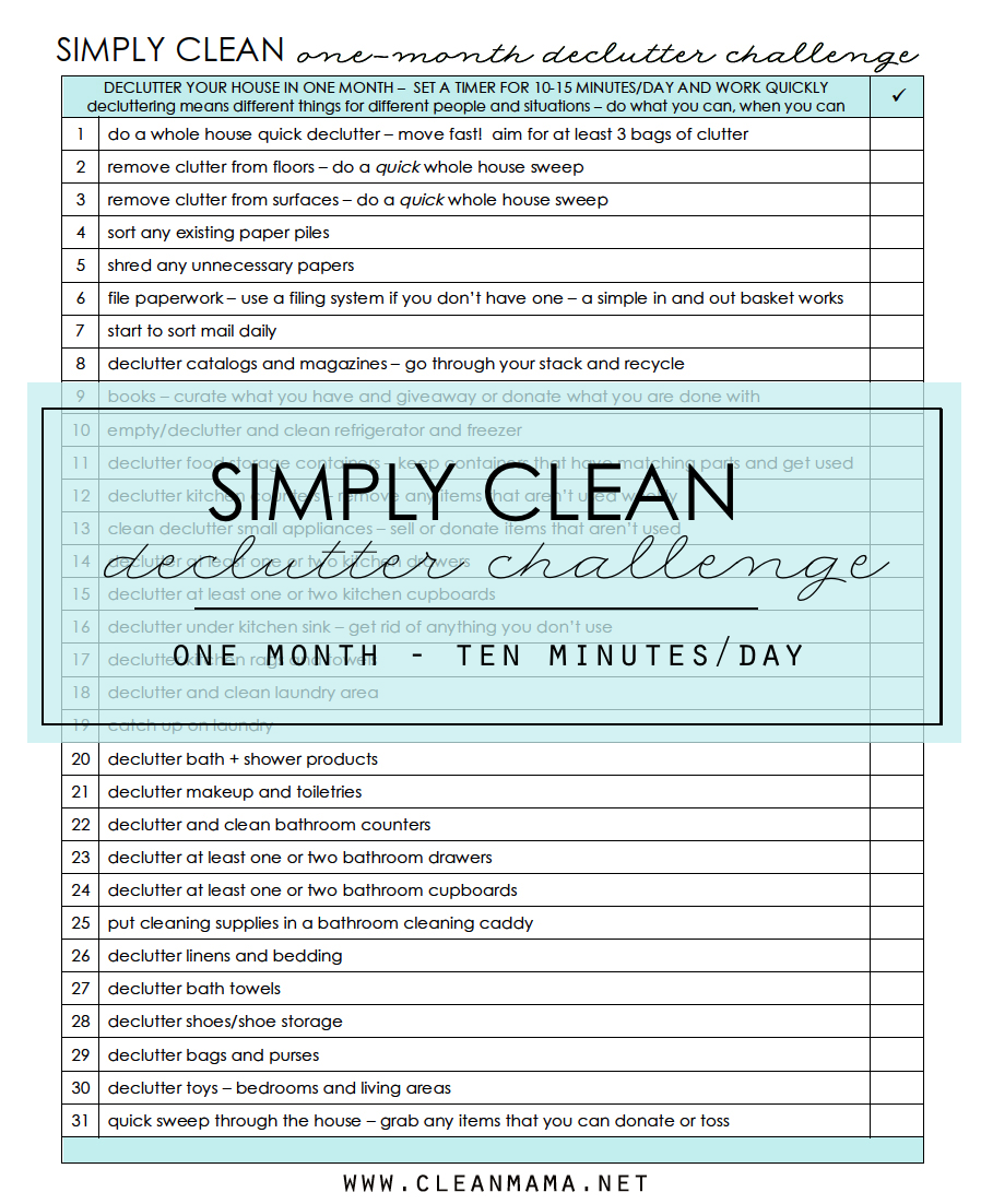 Complete Spring Cleaning List
