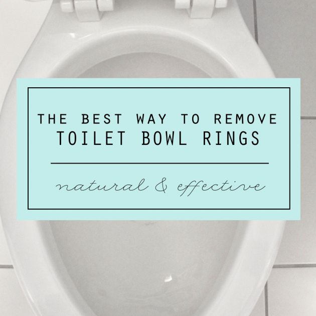 The Best Way to Remove Toilet Bowl Rings