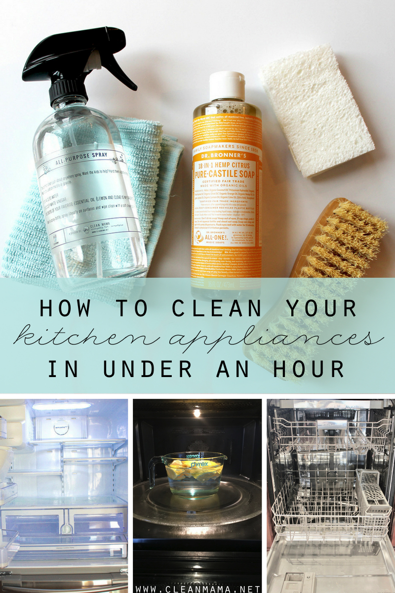 How to Clean Your Kitchen Appliances in Under an Hour - Clean Mama