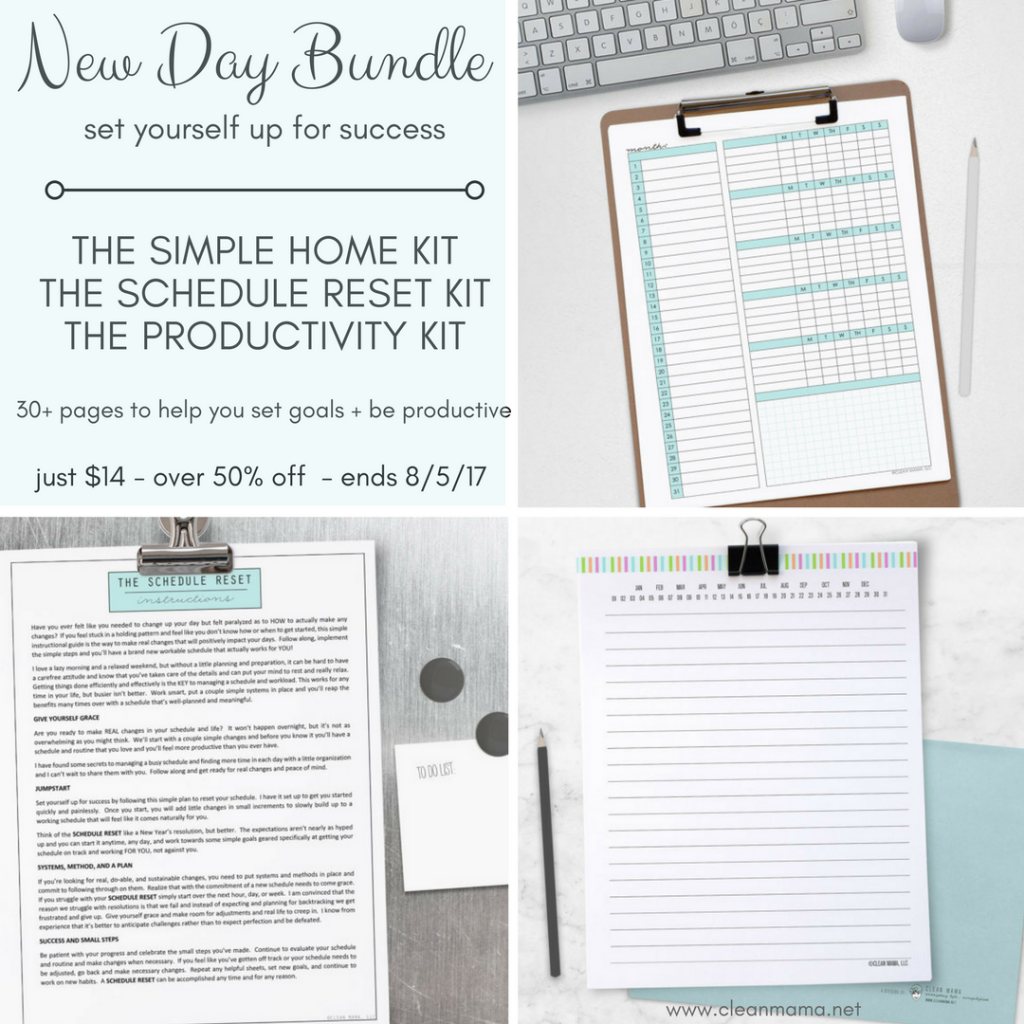 Need a Fresh Start?  Try the NEW DAY BUNDLE!